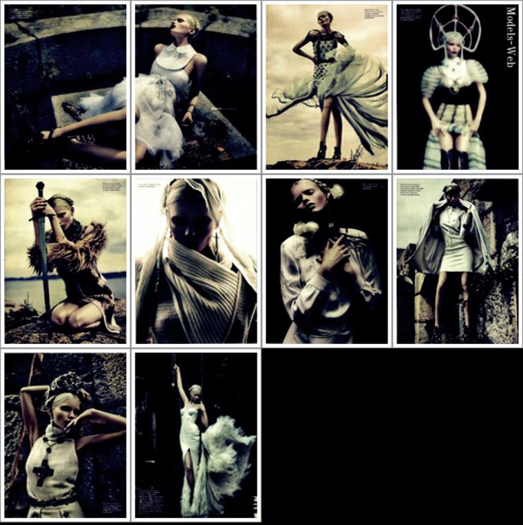 Saskia de Brauw, Karmen Pedaru, Abbey Lee Kershaw, Anja Rubik & Stella Tennant | Numéro #126 Septembre 2011
