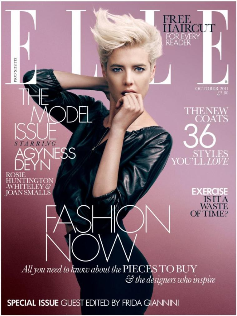 Agyness Deyn | Elle UK Octobre 2011
