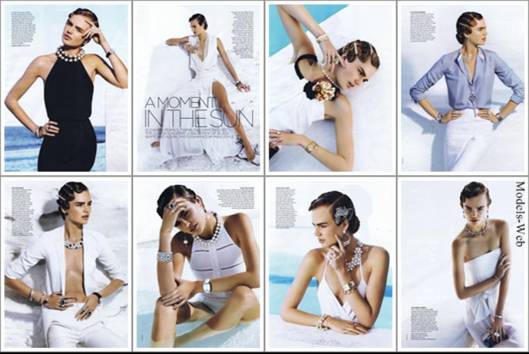 Alina Baikova pour le Vogue Australie de novembre