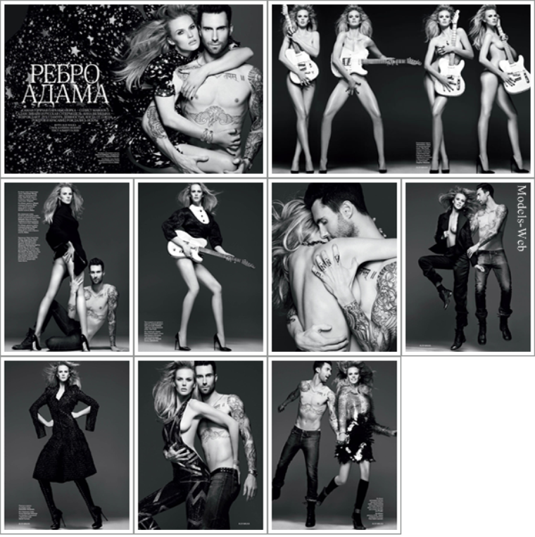 Anne Vyalitsyna & Adam Levine | Vogue Russie Novembre 2011