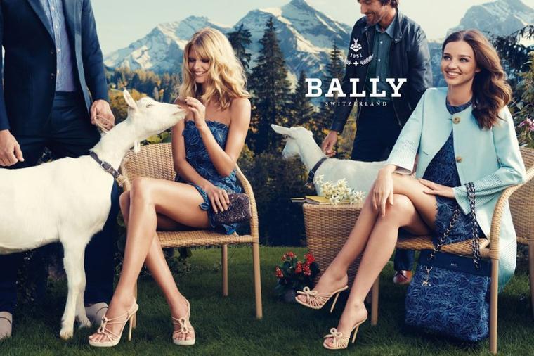 Bally S/S 2012 : Julia Stegner & Miranda Kerr