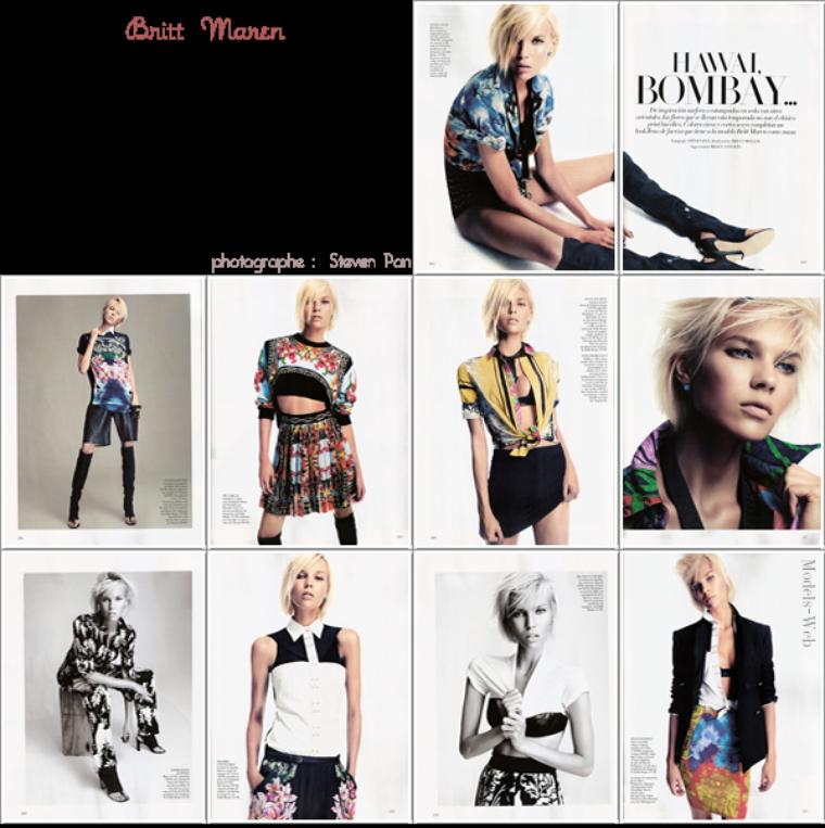 Vogue Espagne Janvier 2012 | Maryna Linchuk