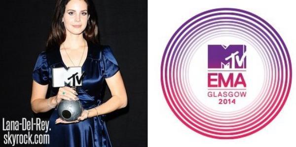 Lana Del Rey nominée dans deux catégories aux MTV EMA !