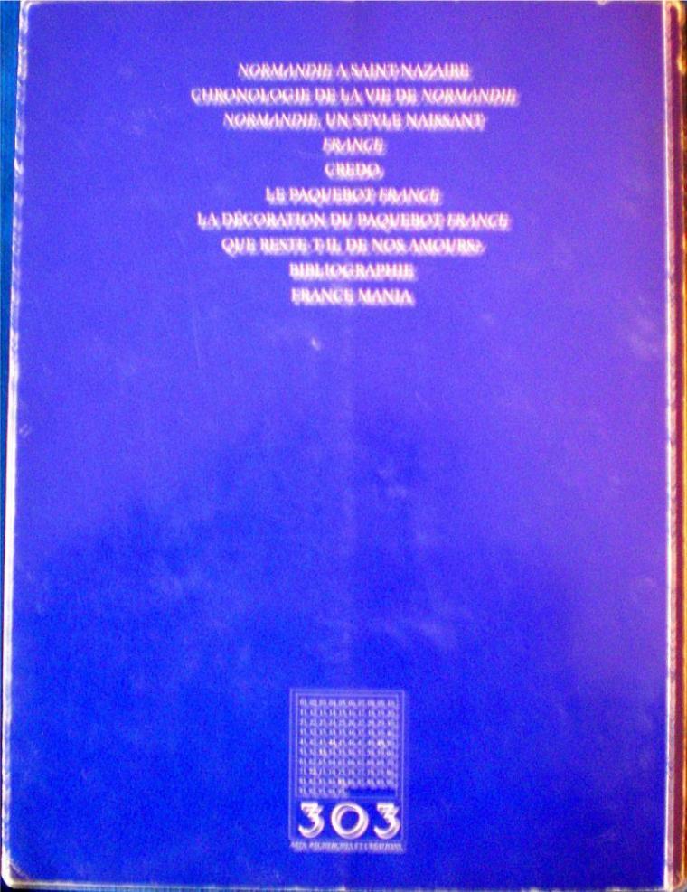 """303 n°64     et    """"s/s Normandie, s/s France, s/s Norway"""" édité par 303"""