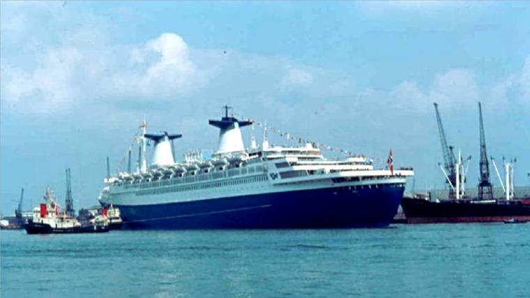 ss NORWAY 1980 - Escale inaugurale - Southampton  20 mai 1980