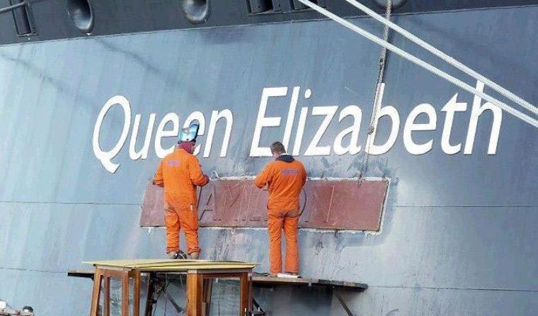 QM2 rénovation en décembre 2011 à Hamburg - QM2 2011 refit 2011 december in Hamburg (2)
