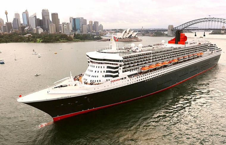 Queen Mary 2  2010 arrive en Australie (2)
