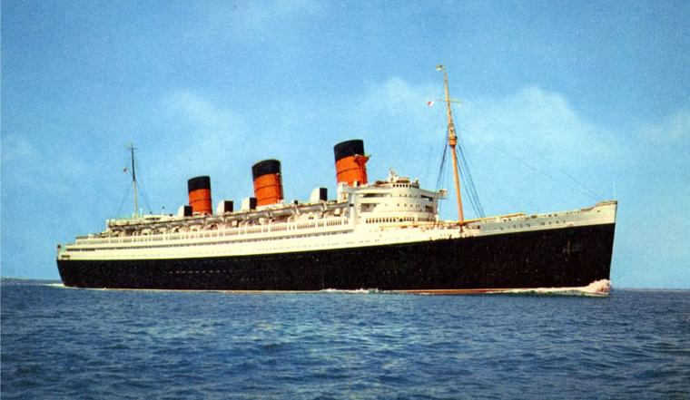 QUEEN MARY (1936) En route pour New York