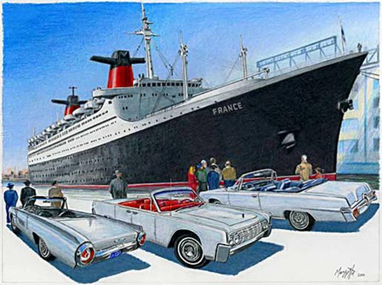 Evocation des années soixante et du paquebot FRANCE à New-York