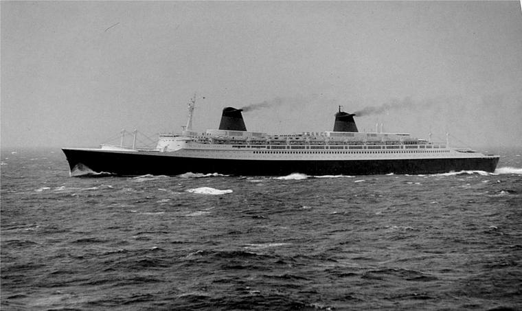 s/s FRANCE - novembre 1971, New-York - Le Havre : en route sur l'Atlantique-nord