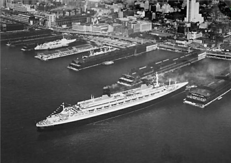 s/s FRANCE - Départ de New-York pour Le Havre