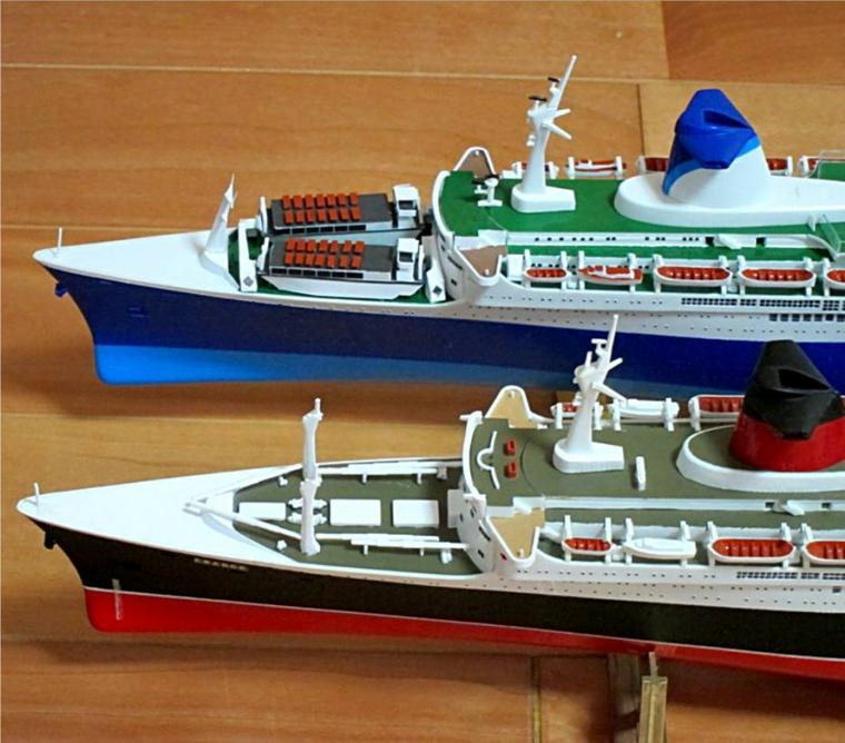 S/S NORWAY  S/S FRANCE maquette AIRFIX
