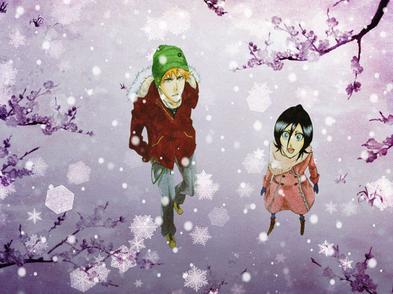 Ichigo & Rukia sous la neige