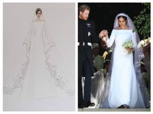 The Wedding Dress 2018 -  Meghan Markle , Duchess Of Sussex