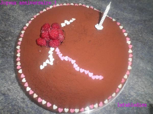 Un gâteau d'anniversaire!