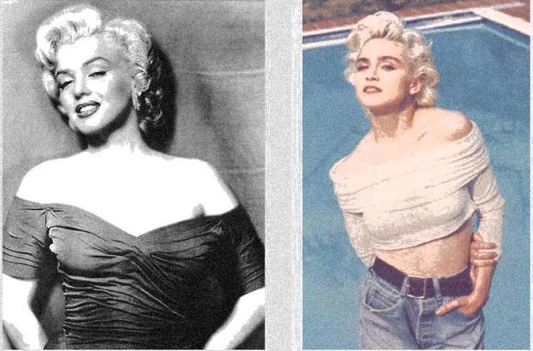 Madonna et son modèle
