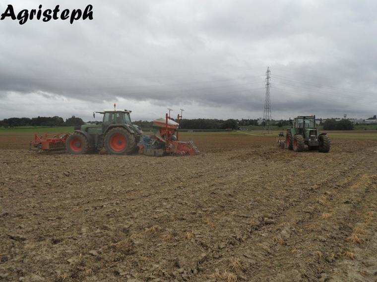 Préparation des terres et semis chez L'Hoest