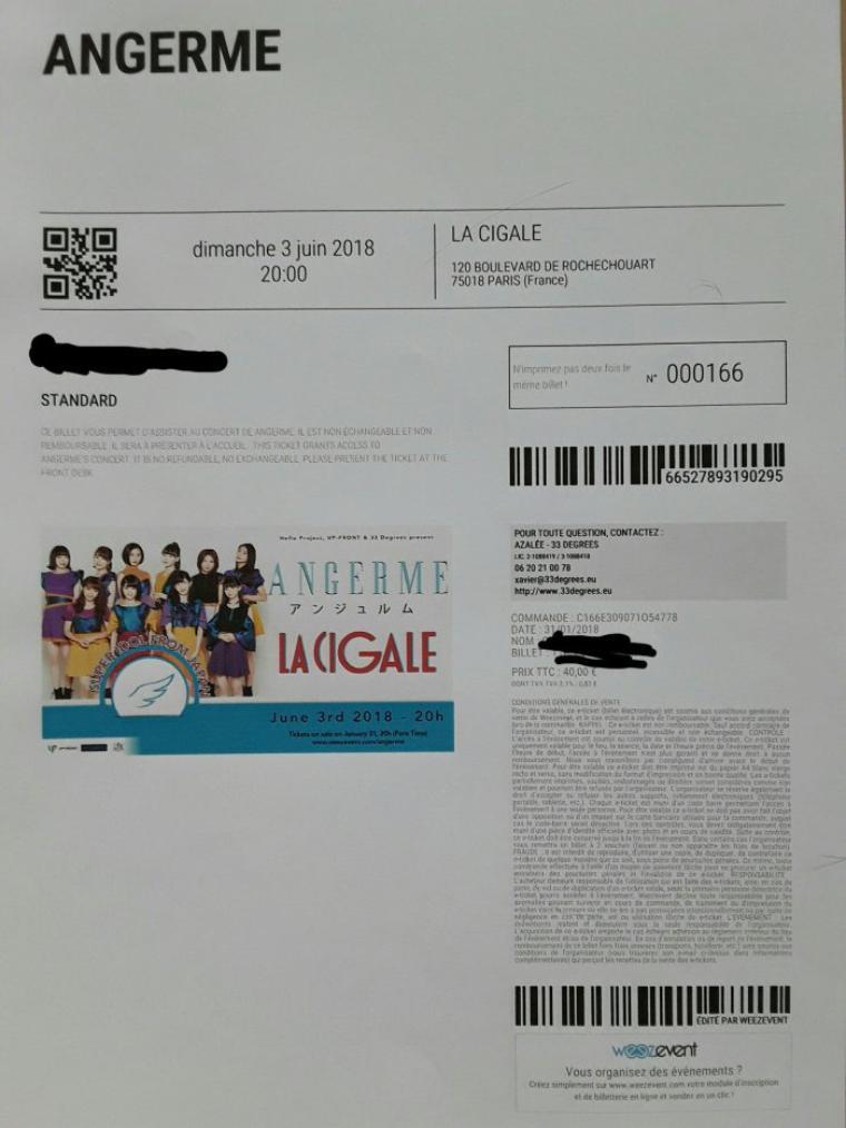 Concert d'ANGERME en France