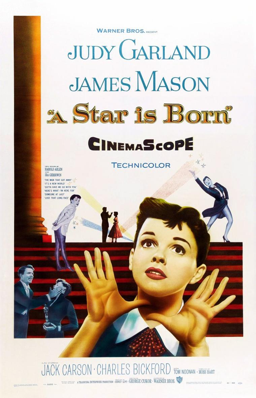 """FILM / """"Une étoile est née"""" (A Star is Born) est un film musical américain de George CUKOR, sorti en 1954. / SYNOPSIS / Norman MAINE est un acteur vedette sur le déclin qui a sombré dans l'alcoolisme et joue les pique-assiette dans les réceptions d'Hollywood. Lors d'un gala de charité, il découvre une jeune chanteuse, Esther BLODGETT, et la fait engager par le directeur du studio. Sous le nom de Vicky LESTER, elle connaît une ascension triomphale. Elle épouse son mentor, qui promet de ne plus boire. Mais leur bonheur est de courte durée. Norman MAINE est de plus en plus oublié par le public, et le studio ne le sollicite plus. Il recommence à boire et doit subir une cure de désintoxication. À sa sortie, il cède de nouveau à son vice, fait irruption à la cérémonie au cours de laquelle Esther reçoit un Oscar, et provoque un scandale. Esther confie à NILES sa décision d'abandonner sa carrière pour se consacrer entièrement à son mari. Norman, qui a surpris la conversation et ne veut pas être un poids pour sa femme, se suicide. Surmontant sa douleur, Vicky revient à la scène et se fait ovationner sous le nom de Mme Norman MAINE."""