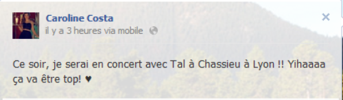 Messages Facebook du jours - 07/09/12