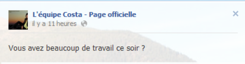 Messages Facebook du jours - 14/09/12