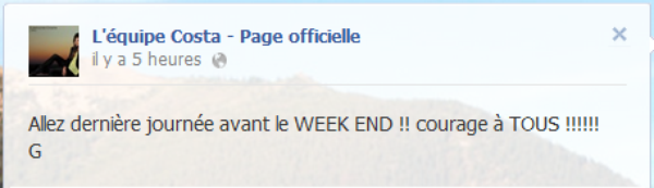 Messages Facebook du jours - 21/09/2012