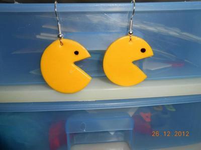 Bague & Boucle d'oreilles Pacman