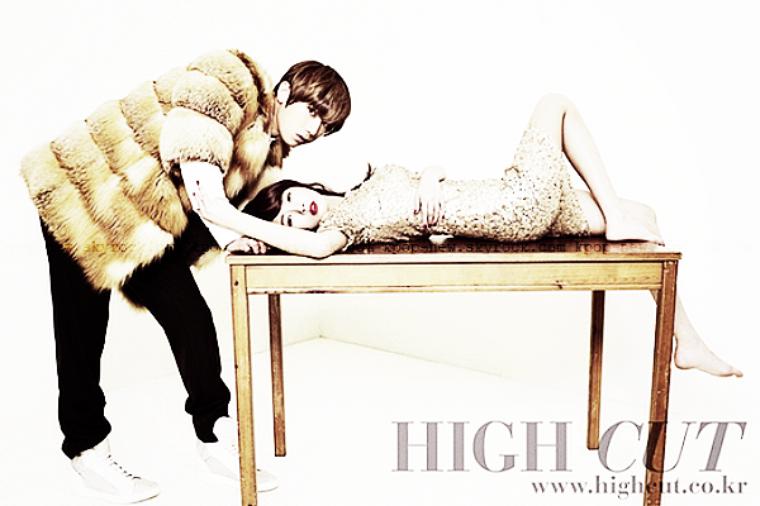 Trouble Maker .PHOTOSDEC . 19 - shooting // Le couple Trouble Maker pose pour le célèbre magazine High Cut. Des clichés très bling bling ♥