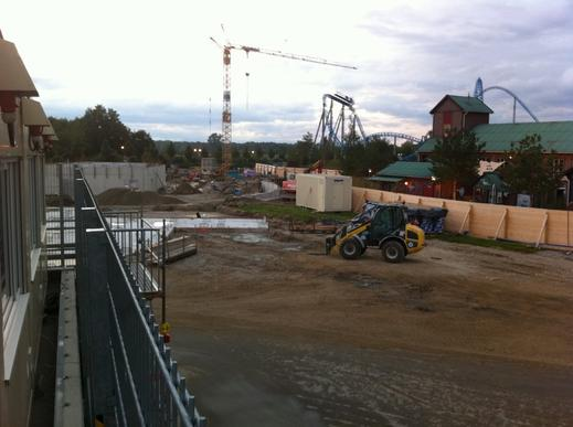 travaux wooden coaster europa park