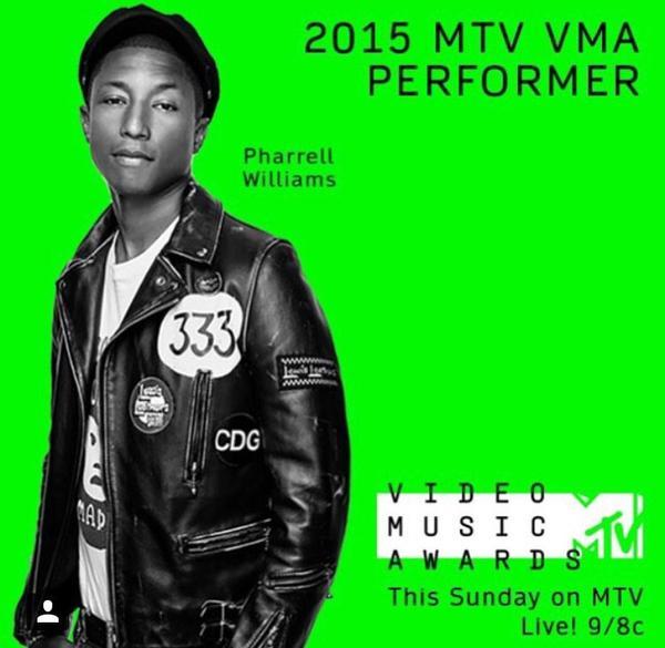 Pharrell en live dimanche aux Vmas