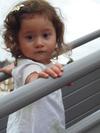Portrait sépia d'une petite fille