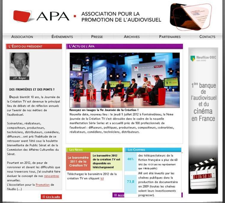 A la découverte du web - L'association pour la Promotion de l'Audiovisuelle (A.P.A.) :