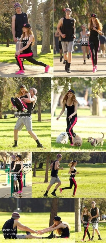 26/02/13 : Bella et Tristan font un jogging au parc de L.A