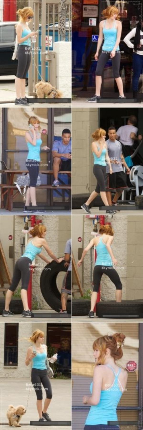 03/02/13 : Bella sur la route pendant qu'elle part à la gym