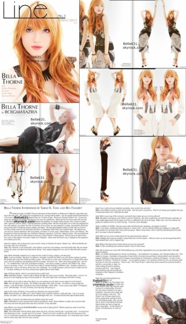 Nouveau photoshoot de Bella pour Line Magazine