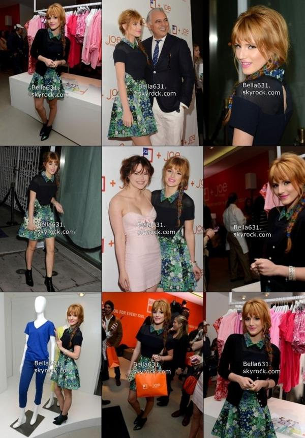 "08/03/13 : Bella s'est rendue à "" JCPenney Joe Fresh Launch Party"