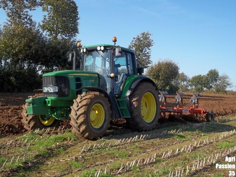 Labours 2011 : John Deere 6530 Premium & Grégoire-Besson 4 Socs