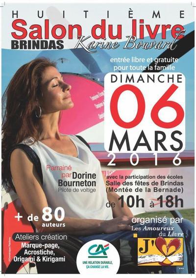 Je serai au Salon de BRINDAS le 6 mars 2016 ! :)
