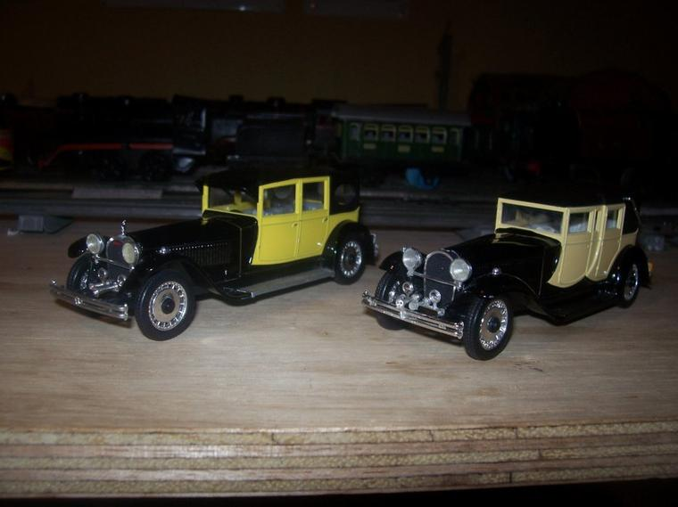 Collection de miniatures Bugatti (25).