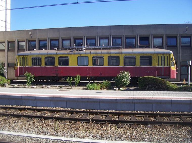 En gare de Charleroi.