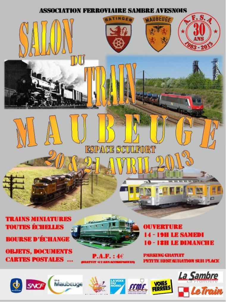 Salon du Train les 20 et 21 avril 2013 à Maubeuge.