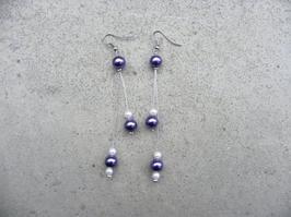 """Boucles d'oreilles """" Perles de douceur """""""