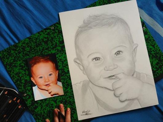 De la photo au portrait dessin - N'hésitez pas à me contacter pour plus d'informations : a.dessinportrait@gmail.com