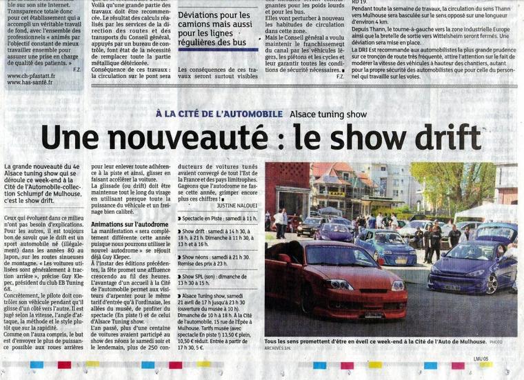 Dernières Nouvelles d'Alsace Mulhouse 19 / 04 / 2012
