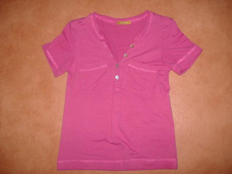 tee shirt rose taille s/m