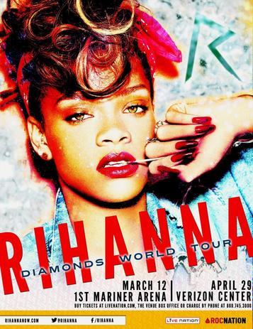 Shows, concerts et spectacles de Rihanna en 2013 ! Rihanna : Le 777 Tour, le Diamonds World Tour 2013 mondial. (mise à jour en août 2013)