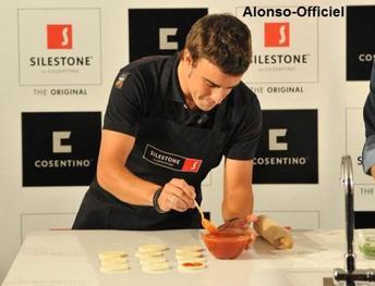 Fernando Alonso, c'est aussi ...    ...Une histoire de cuisine.