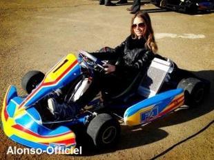 Fernando Alonso et Dasha Kapustina au Karting    Petit jour de repos dans une période bien charger.
