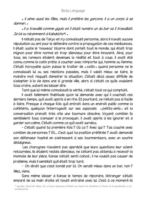 Body language (romant Yaoi-hard) n.1