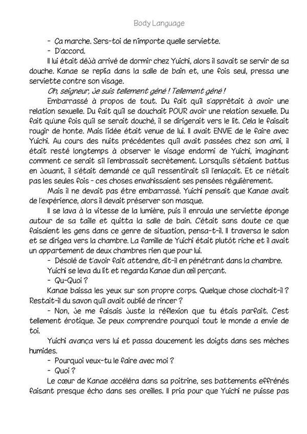 Body language (romant Yaoi-hard)n.2